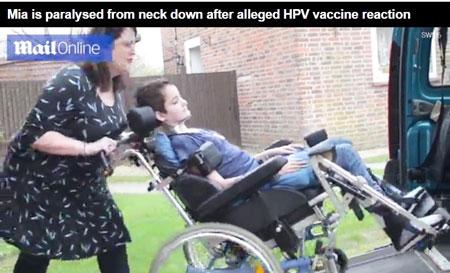 hpv vaccine girl paralyzed)